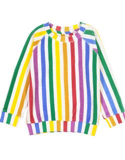 682448b71c7e [HUGO LOVES TIKI] Terry Sweatshirt - Rainbow Stripes